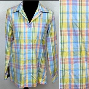 🌻3/$12 [BLAIR] Pastel Plaid Button Down Shirt